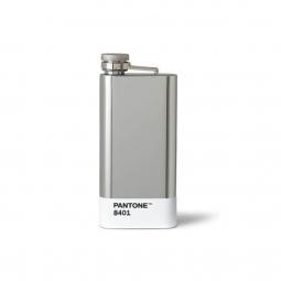 PANTONE Hip Flask Silver 8401